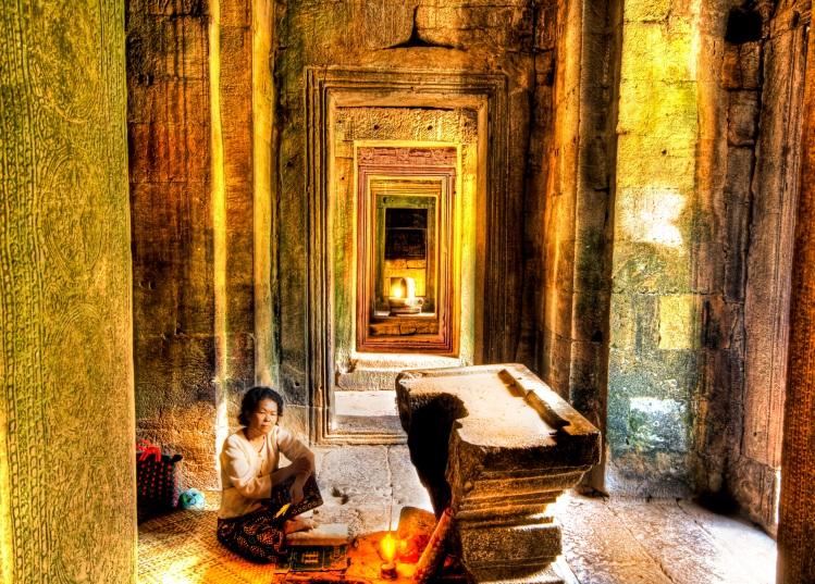 Woman Hindu Temple